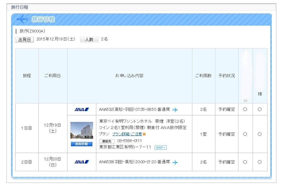 上京予定2015冬