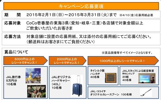 CoCo壱番屋 キャンペーン