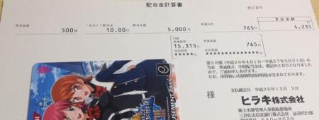 3059 ヒラキ 配当金