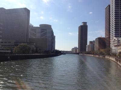 堂島川の眺め