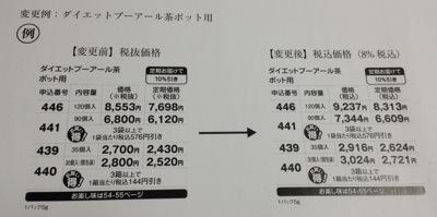 カタログの税込価格への変更
