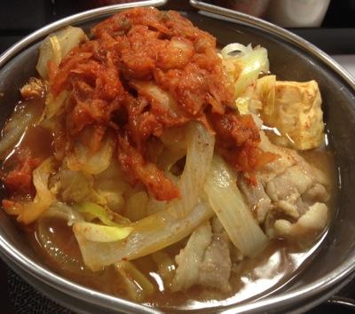 豚肉豆腐チゲ鍋定食 メイン