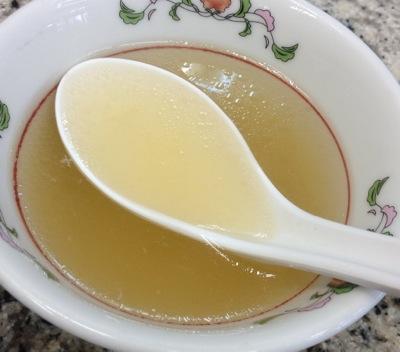 天津飯 付属のスープ