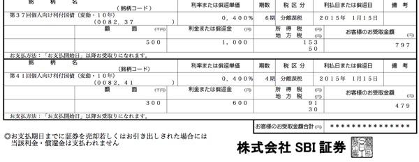 個人向け国債 利金2