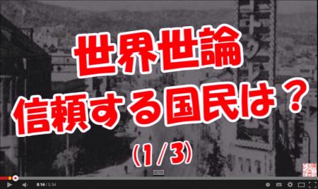 【世界世論】 信頼する国民は?(1 3) - YouTube