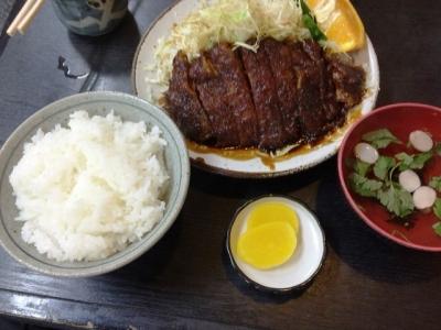 150714葉栗屋味噌かつライス1100円