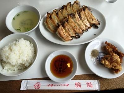 150716ミンミン三条大橋店餃子定食500円