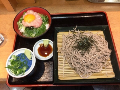 150727汐灯(しおび)ネギとろ丼セット530円