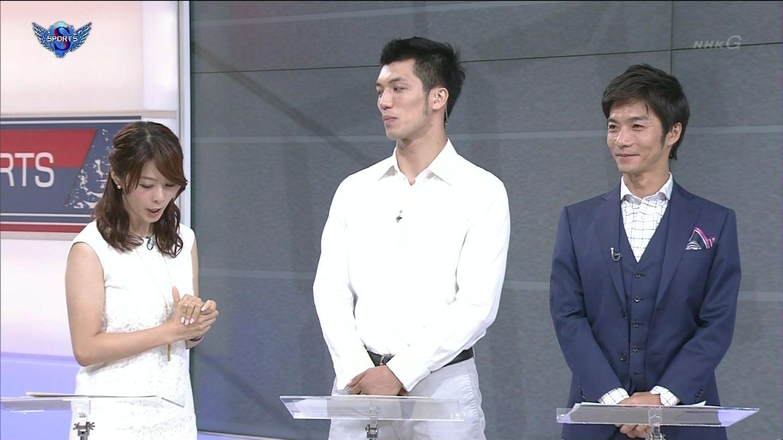 NHK「サンデースポーツ」の杉浦友紀アナの二の腕