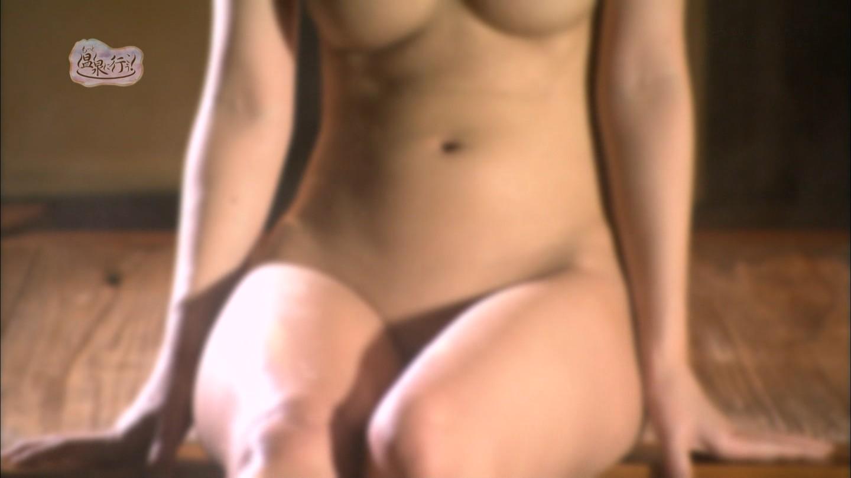 フジテレビNEXT「もっと温泉に行こう!」全裸で入浴する女の子の股間