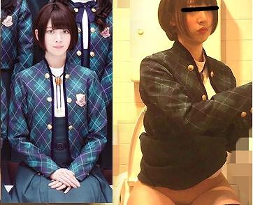 トイレ盗撮画像された女と乃木坂46・橋本奈々未の制服姿比較画像
