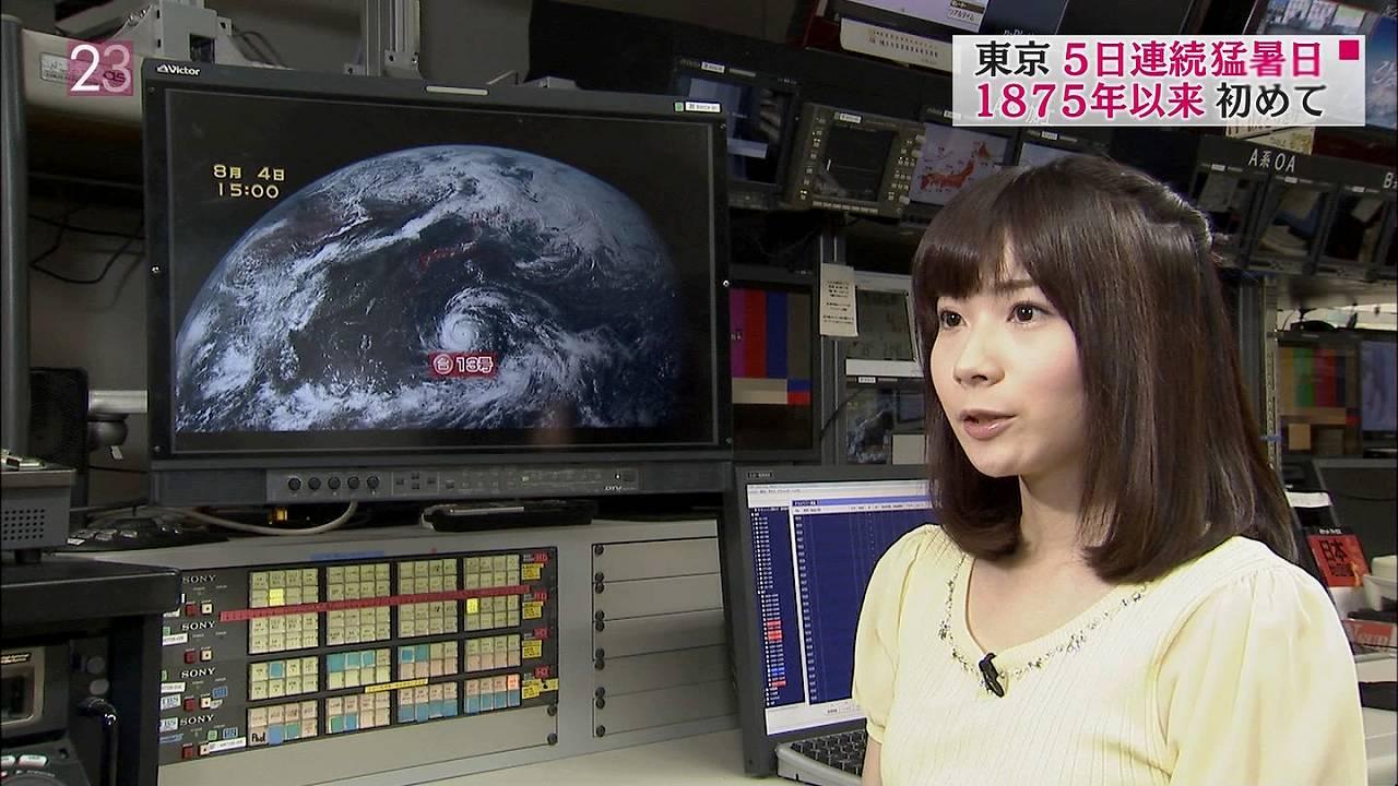 TBS「NEWS23」の気象予報士、國本未華