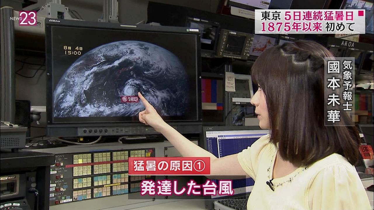 TBS「NEWS23」のお天気お姉さん、國本未華