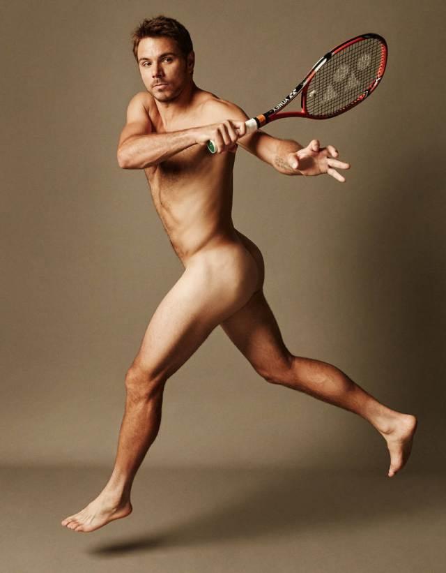 全裸でテニスをするスタン・ワウリンカ