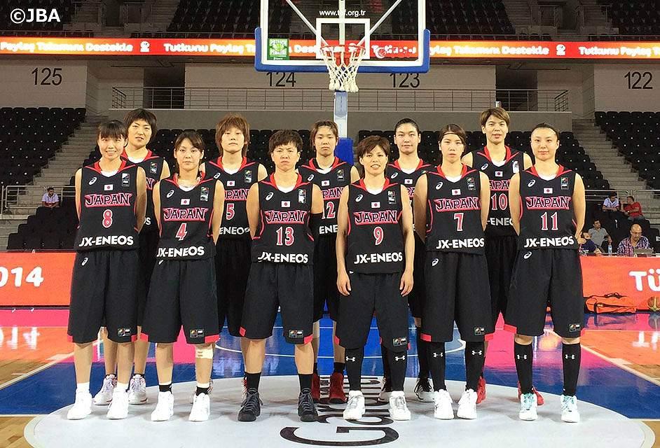 女子バスケットの日本代表選手