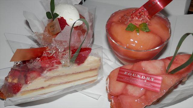 桃のケーキ ^^