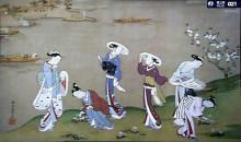 隅田河畔春遊図