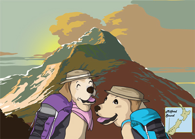 羊の国のラブラドール絵日記シニア!!「クロエちゃんの影響力」カレンダーバナー2