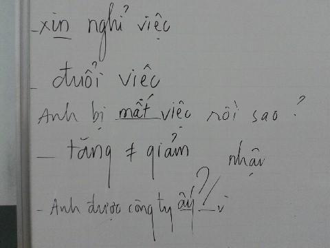 ベトナム語クラス2月3日