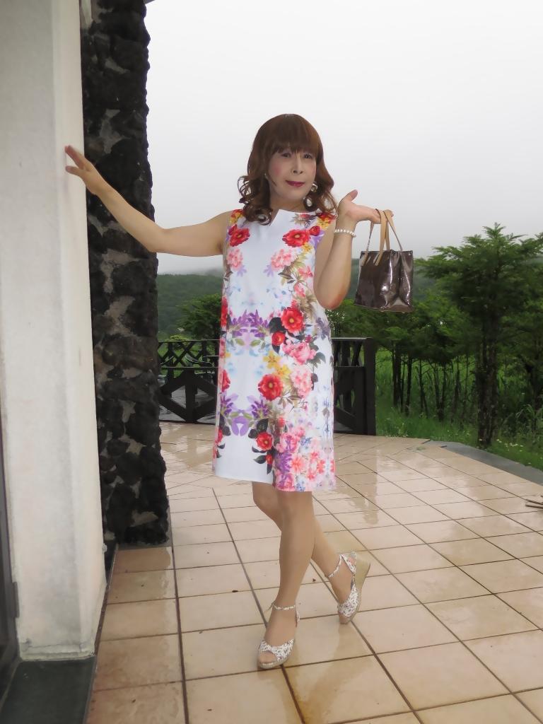 ビューホテル花柄ワンピA(5)