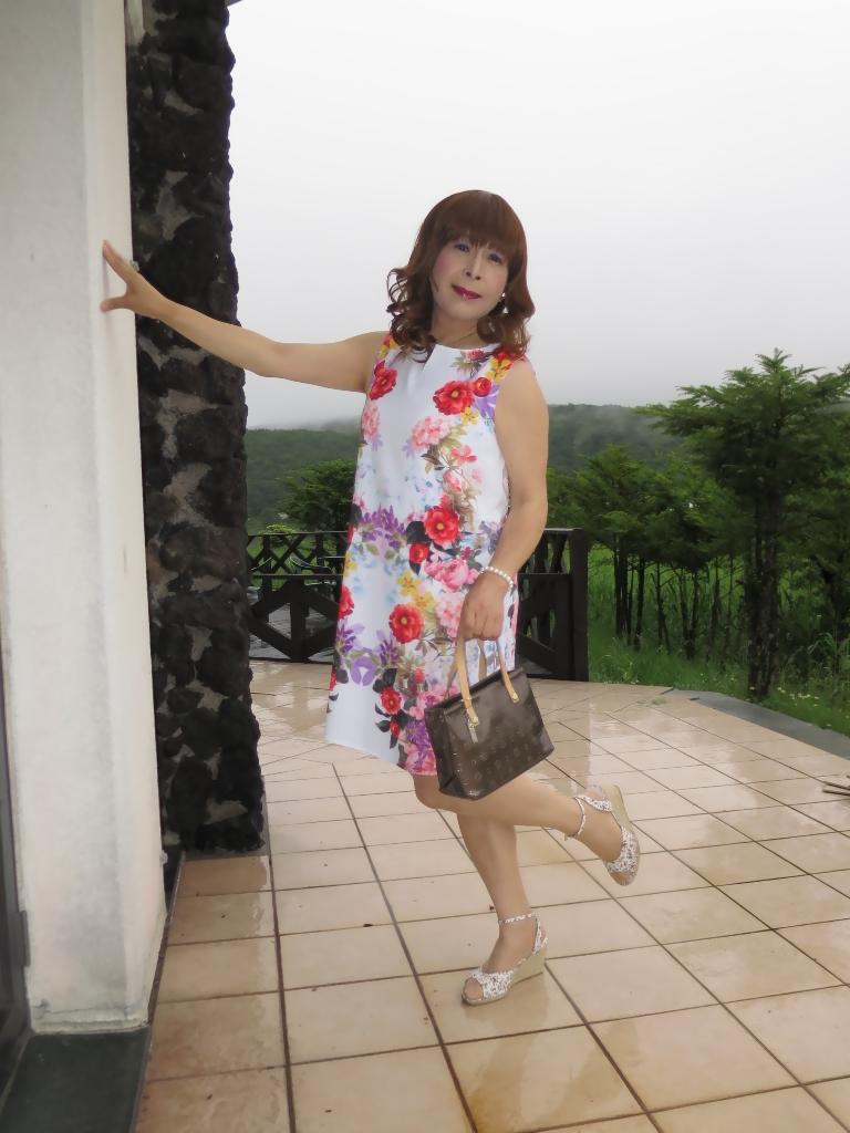 ビューホテル花柄ワンピA(6)