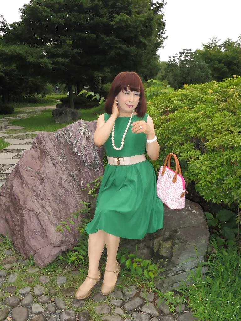 緑色ワンピC(3)