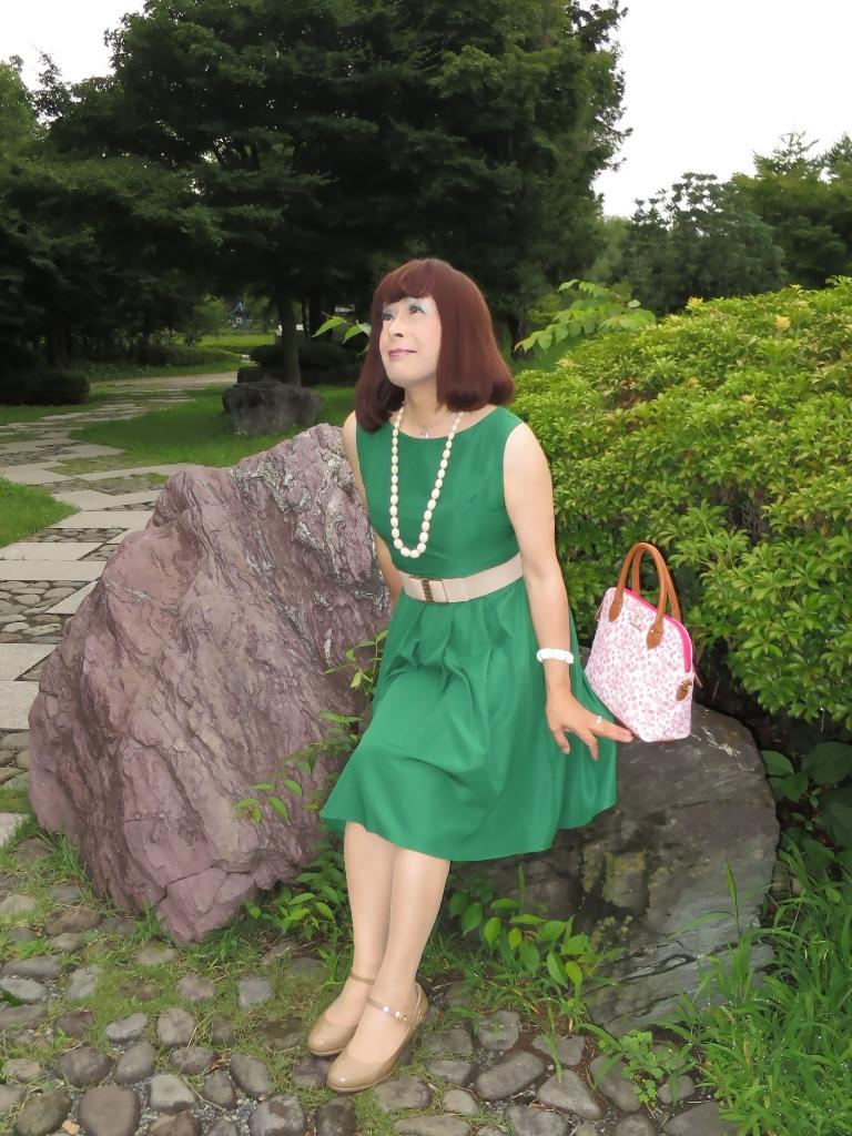 緑色ワンピC(6)