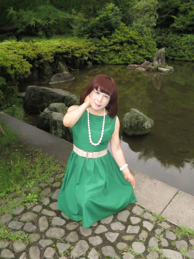 緑色ワンピD(3)
