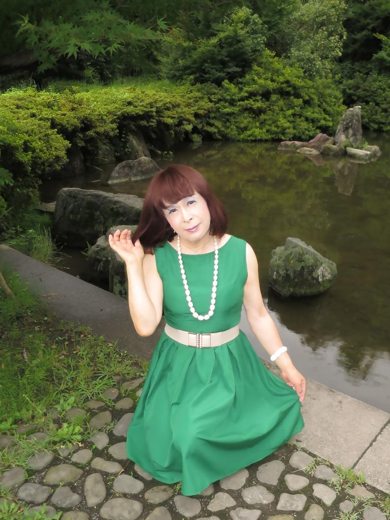 緑色ワンピD(4)