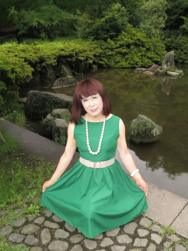 緑色ワンピD(5)