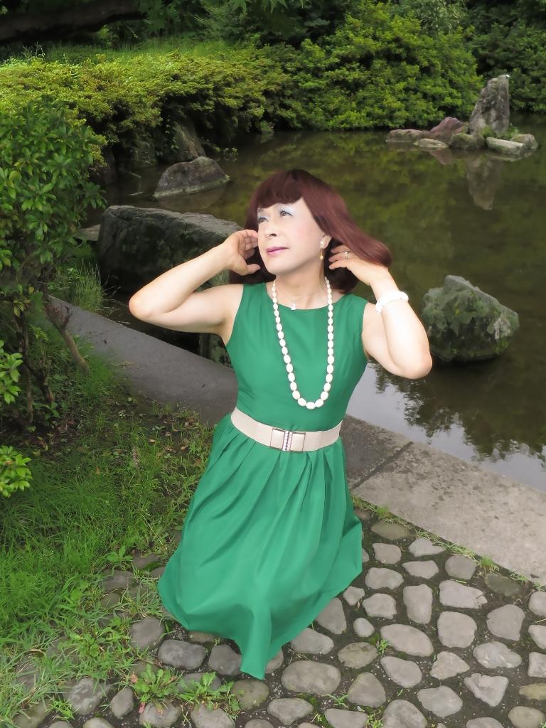 緑色ワンピD(6)