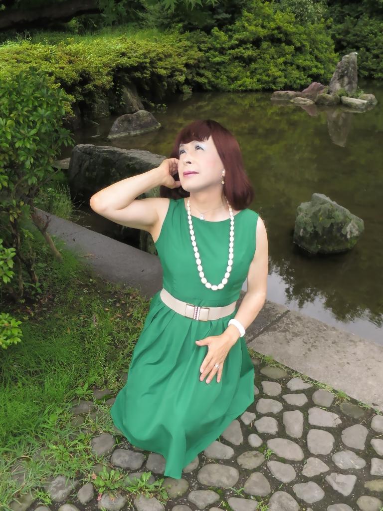 緑色ワンピD(7)