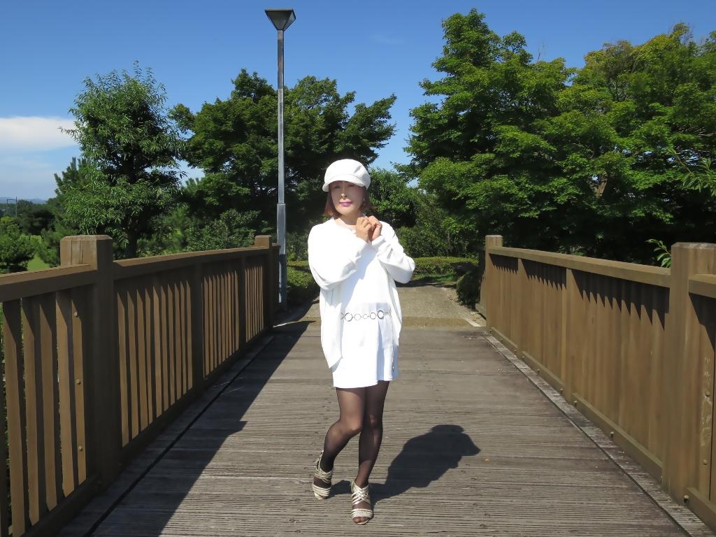 シンプル白ワンピ帽子A(6)