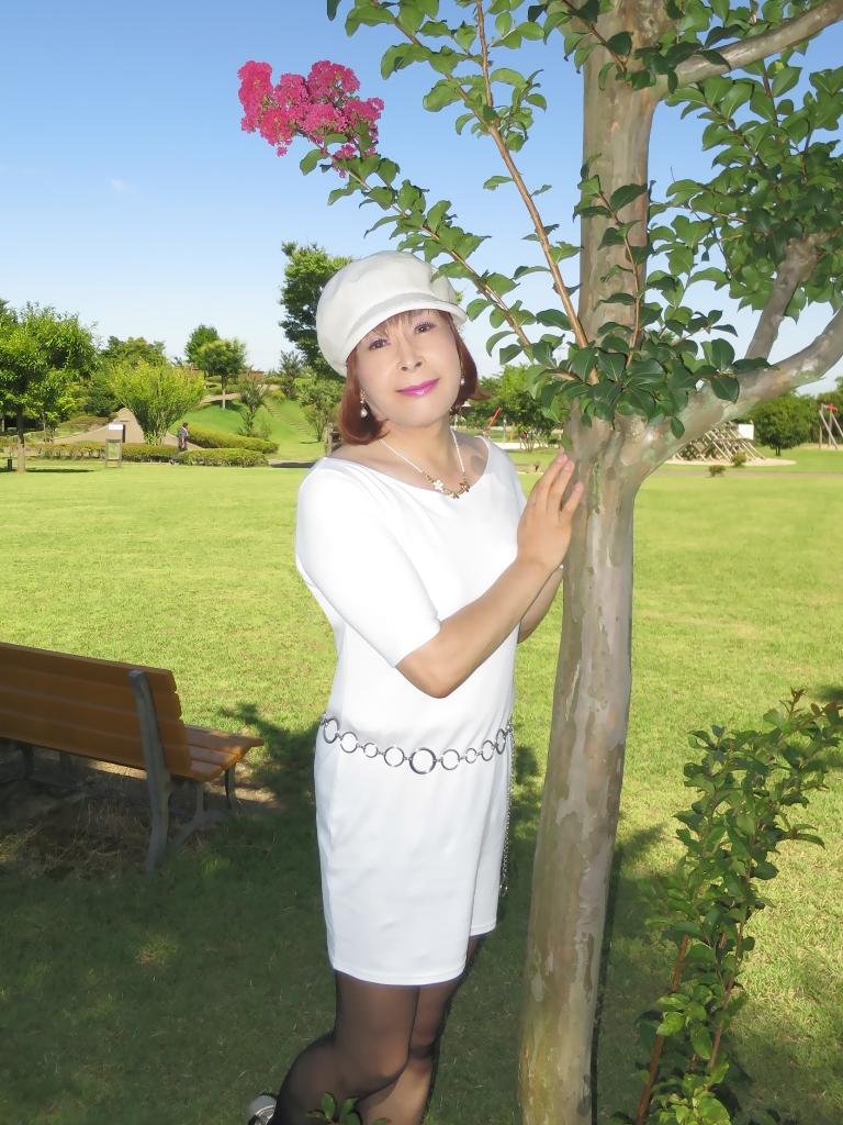 シンプル白ワンピ帽子C(2)
