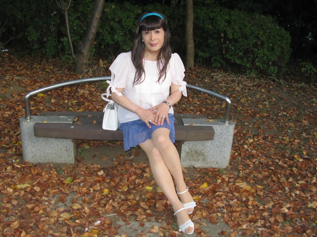 100903青シフォンスカート(6)