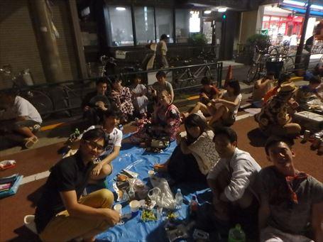 隅田川花火大会の外国人