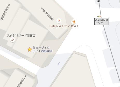 ミュージックテイト地図