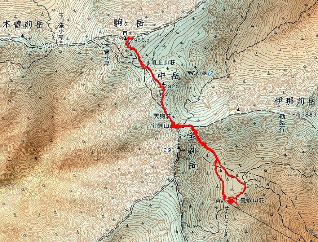 s-ta駒ケ岳トレース