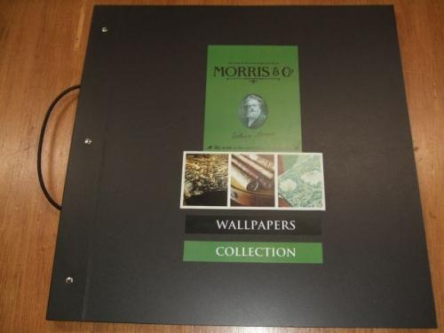 「WALLDECO MATERIALS(ウォールデコ マテリアルズ)」掲載のウィリアム・モリスのカタログ