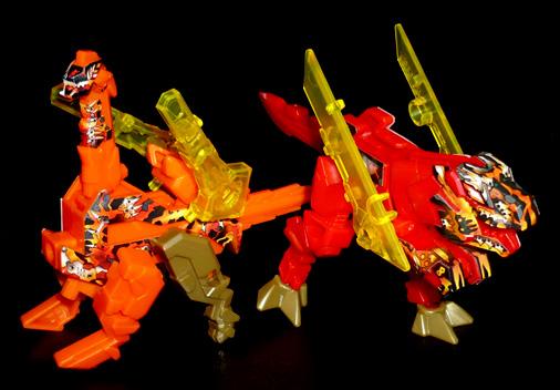 異字元合体 もじバケるZⅡ 無バケる(赤)&敵バケる(橙)