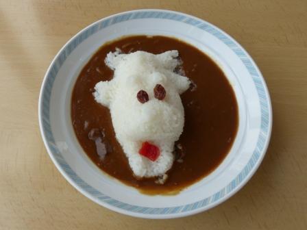 展望レストラン東雲 カレーライス (カバさんカレー)
