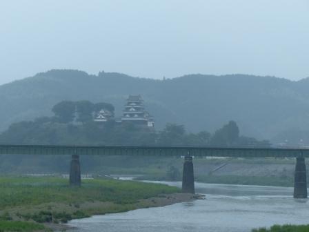 大洲城と肱川鉄橋