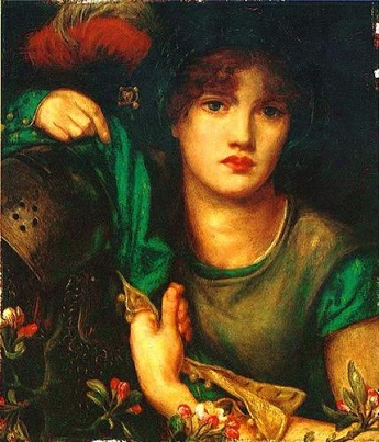 My Lady Greensleeves,Rossetti,1863