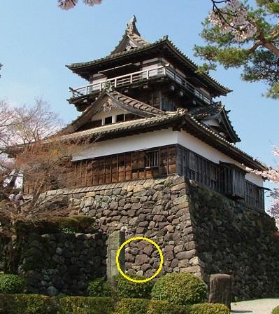 丸岡城跡石垣