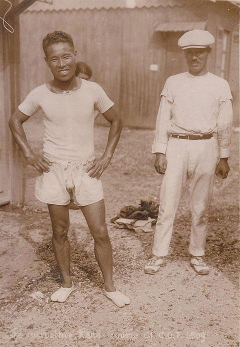 s-1924年に開催されたオリンピック、第8回パリ大会での金栗四三選手。足袋を履いている。