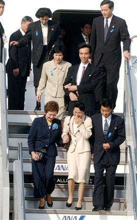 2002年10月15日 5人の拉致被害者