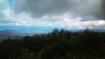天元台から米沢市内を見る