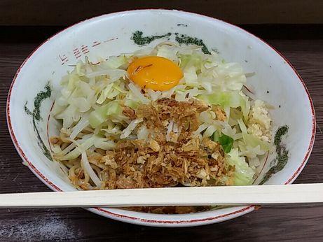 150718_横浜関内_M松スペシャル(汁なし)_ニンニク少し麺3分の1