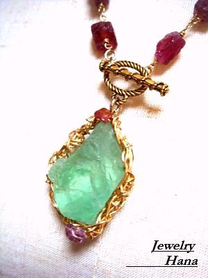天然石ネックレス デザインネックレス 色石ネックレス