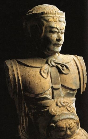 六所神社・男神像~神奈川の神道美術展図録掲載写真